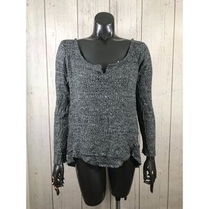 Paper Crane Size Small Charcoal Gray Knit Top
